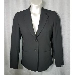 DKNY 2 Black Button Front Blazer